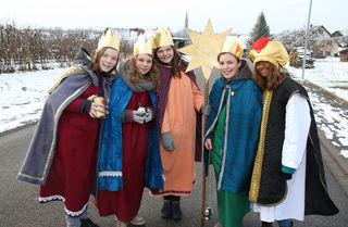 Rund um den 6. Januar sind wieder die Sternsinger unterwegs.