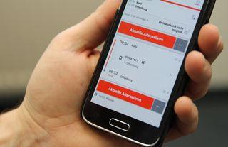 Mit einer App werden SWEG-Kunden informiert.