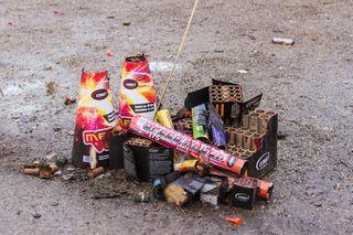 Feuerwerk-Rückstände beschäftigen den städtischen Betriebshof.
