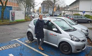 Sarah Koschnicke nutzt das Carsharing-Angebot in Kehl sowohl dienstlich als auch privat.