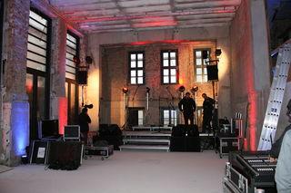 Die Bühne im künfigen Kulturcafé, das im Rahmen der Umbauarbeiten der ehemaligen Tulla-Realschule entsteht.