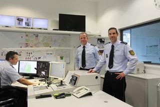 Guido Kühn (v. r.) und Thomas Straub leiten zusammen das Polizeirevier Achern/Oberkirch.