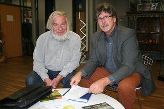 Hornbergs ehemaliger Bürgermeister Thomas Schwertel (rechts) ist nach einer schweren Herzattacke verstorben. Das Archivfoto zeigt den Verstorbenen mit Johannes Werner, dem ehemaligen Vorsitzenden der Hausenstein-Gesellschaft.