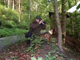 Ein Jäger hat die Natur stets genau im Blick