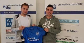 Michael Kühne (links) zusammen mit Co-Trainer Maximilian Maassen