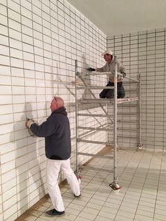 In der Wasserkammer sind die Handwerker gefordert.