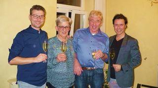"""""""Piano.Vocal"""" zu Besuch bei Gewinnerin Christel Schnurr und Ehemann Siegfried. Der Abend war ein voller Erfolg."""