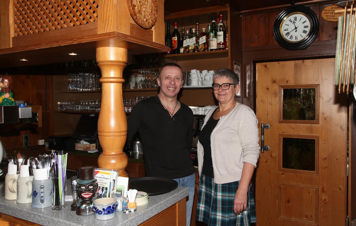 Das Wirtepaar Sonja und Martin Wurth wird sich am 11. Februar von seinen Gästen verabschieden.