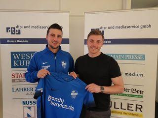 Co-Trainer Maximilian Maassen (links) zusammen mit Johannes Geyer