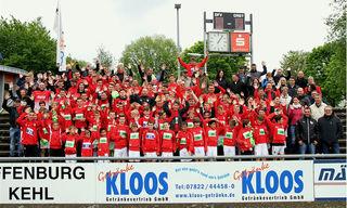 Die erfolgreiche Jugendabteilung des Offenburger FV im Karl-Heitz-Stadion.