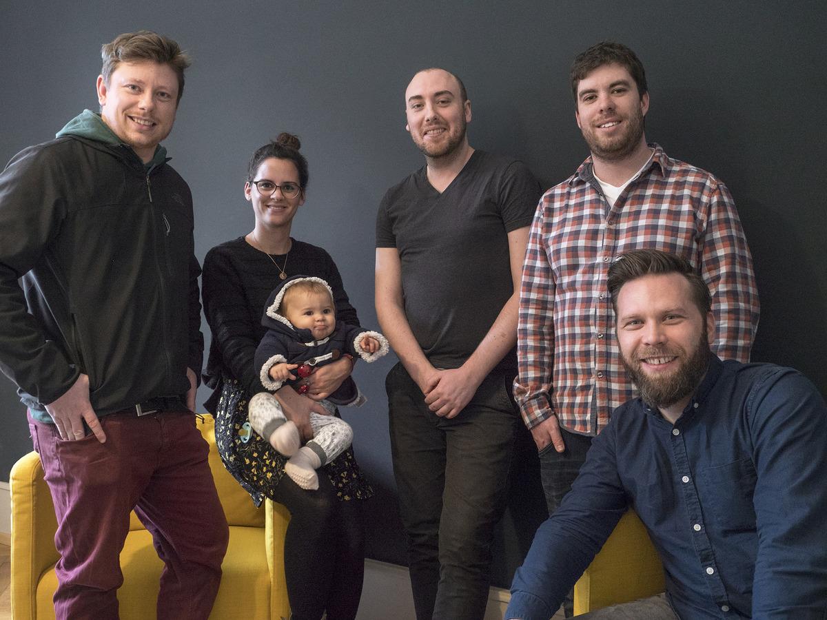 Das Chainless-Team ist inzwischen größer geworden: André Kesenheimer, Esther Arroyo Garcia, Christopher Großklaus, Frederik Böhm, Christian Hirth (von links).