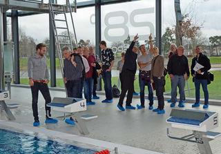 Im AQWA Bäderpark Walldorf erhielt die Kehler Projektgruppe unter Leitung von Baubürgermeister Harald Krapp eine Vielzahl hilfreicher Tipps für die Planung des Kehler Hallenbads.