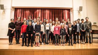 """Die Preisträger aus Lahr des Wettbewerbs """"Jugend musiziert"""""""