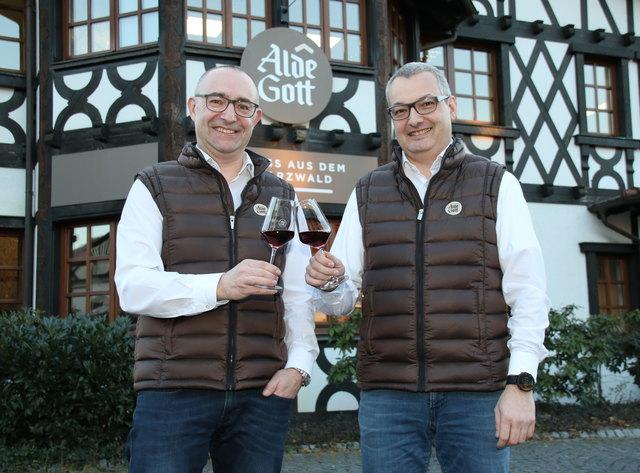 Neue Märkte wollen Günter Lehmann (links), Geschäftsführer der Alde Gott Winzer EG, und Michael Falk, einer der Geschäftsführer der German Wine Group, erschließen.