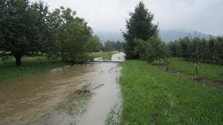 Oberkirch erarbeitet ein Hochwasserschutzkonzept, hier das Reichenbächle beim Schadensereignis 2014.