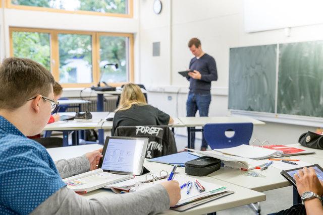 """Das IGB Lahr nimmt am Schulversuch """"Tablet BS"""" teil."""