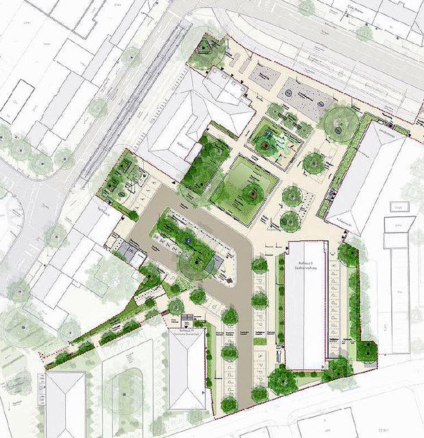 So wird der Bereich zwischen den Kehler Rathäusern nach der Umgestaltung aussehen.