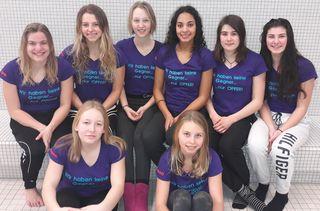 Die erfolgreichen Schwimmerinnen des SV Kehl, die sich in der Badenliga in der Tabelle wieder verbessern konnten