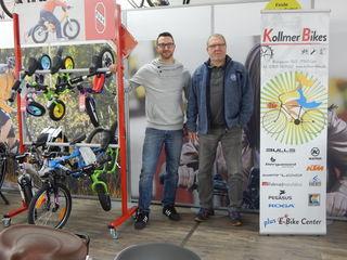 Markus Kollmer (links) und sein Vater Roland Kollmer sind kompetente Ansprechpartner rund ums Fahrrad.