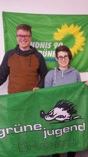 Michael Christ und Juliane Hauer bilden das neue Sprecherteam der Grünen Jugend Ortenau.