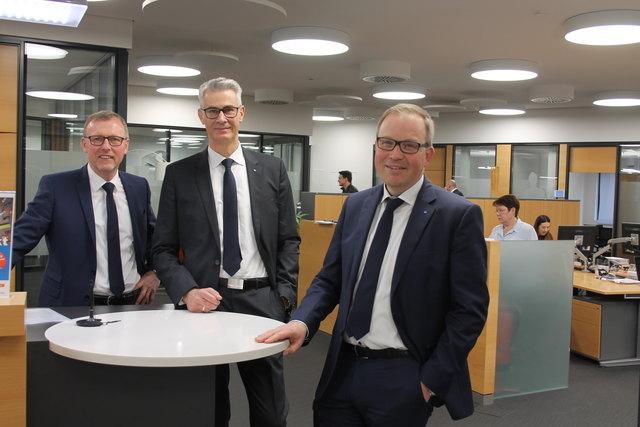 Seit der Fusion zu dritt im Vorstand (v. r.): Vorsitzender Markus Dauber, Andreas Herz und Clemens Fritz [spreizung][/spreizung][fotovermerk]Foto: rek[/fotovermerk]