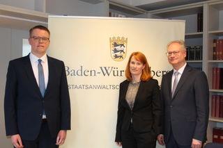 Berichteten über die Arbeit der Staatsanwaltschaft Offenburg (v. r.): Dr. Herwig Schäfer als Leiter der Justizbehörde sowie Miriam Kümmerle und Kai Stoffregen