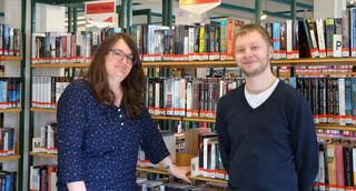 Die Zwei von der Mediathek Kehl: Fabiane Luz und Hannes Britz übernehmen die Leitung.