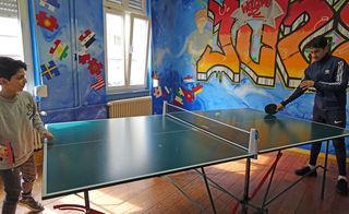 Beim Tischtennisduell konnten sich die Jugendlichen austoben.