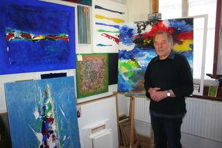 Willy Heine in seinem Hornberger Atelier.