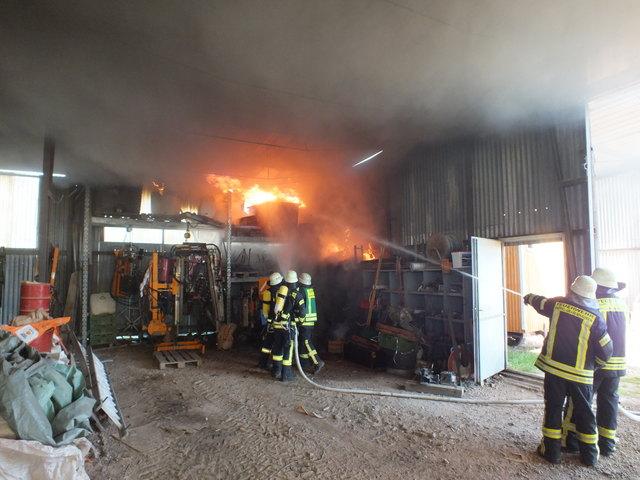 Die Feuerwehr Kappel-Grafenhausen wurde am Samstag zu einem Brand in einer Feldscheune gerufen.