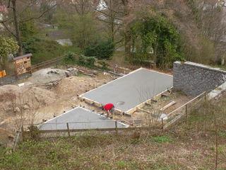 Die Baustelle für das Walderlebnishaus