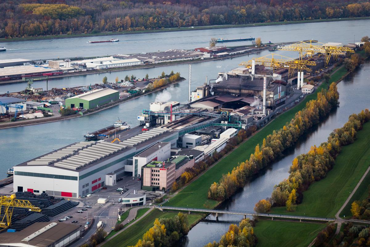 Die Badischen Stahlwerke in Kehl setzen auf Nachhaltigkeit.