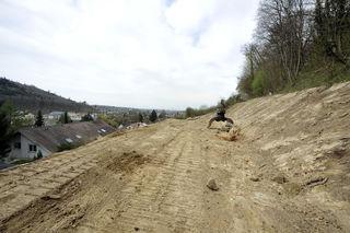 Am Altenberg in Lahr haben die vorbereitenden Maßnahmen bereits begonnen.