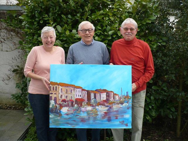 Wolfgang L. Obleser (Mitte) mit Gewinnerin Hannelore Blasche und Ehemann Dieter