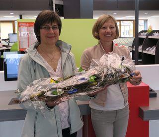 Beate Eissele-Wössner (r.) mit Christel Fallert