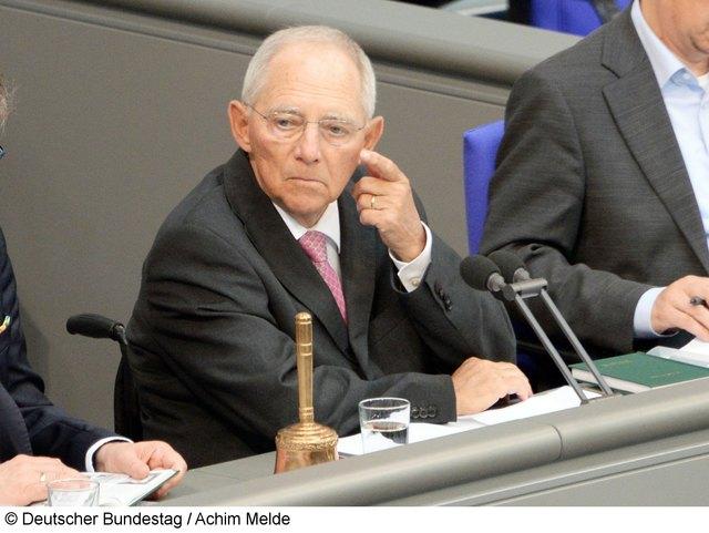 Wolfgang Schäuble (Foto) diskutiert mit Wolf Biermann.