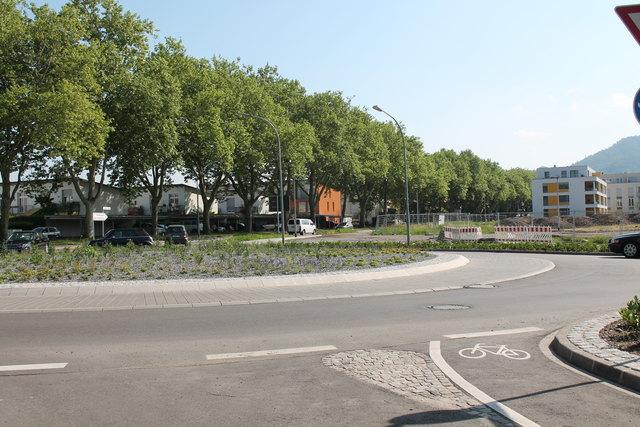 Der Ausfahrtast des Kreisverkehrs in Richtung Fessenbach wird kommende Woche gesperrt, da die Straße umgestaltet wird.