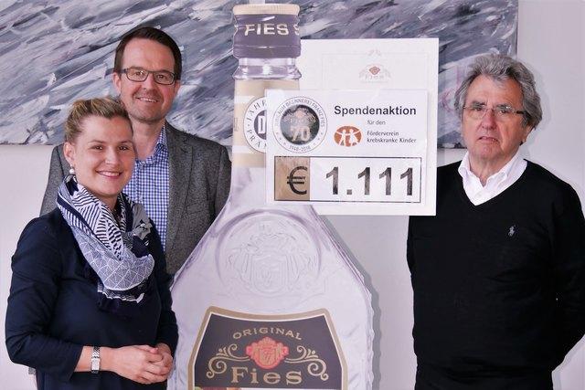 Foto: privat; v.l.n.r.: Anne-Katrin Hormann, Joachim Neymeyer  (Geschäftsführer), Werner Kimmig