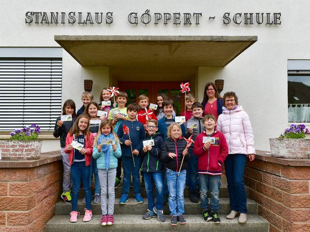 """Grundschüler aus Schweighausen durften ins """"Grüne Klassenzimmer"""" der Landesgartenschau in Lahr."""