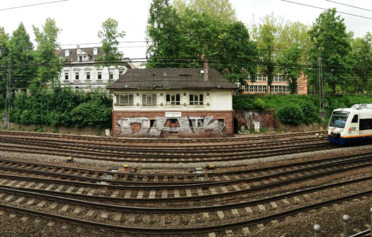 Der Bahngraben bei Offenburg