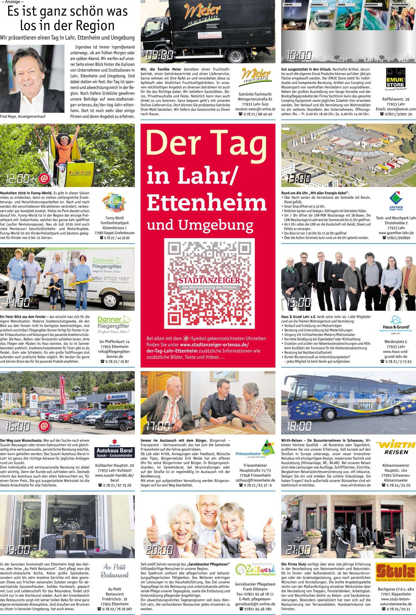 Der Tag in Lahr/Ettenheim und Umgebung