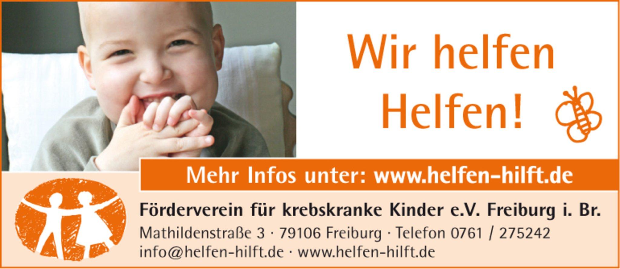 Förderverein für krebskranke Kinder e. V. Freiburg